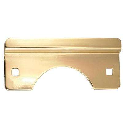 Polished Brass Latch Guard for Out-Swinging Doors