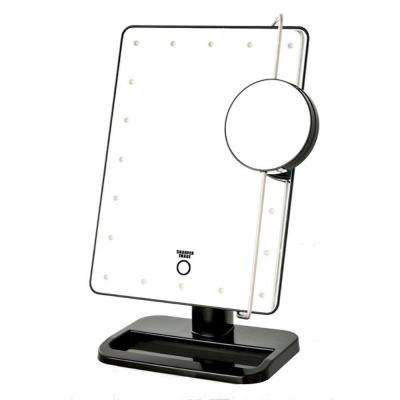 8.15 in. x 13 in. LED Lighted Tri-View Mirror