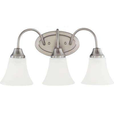 Holman 3-Light Brushed Nickel Vanity Light