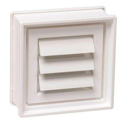 7-3/4 in. x 7-3/4 in. x 3-1/8 in. Dryer Vent for Glass Block Windows