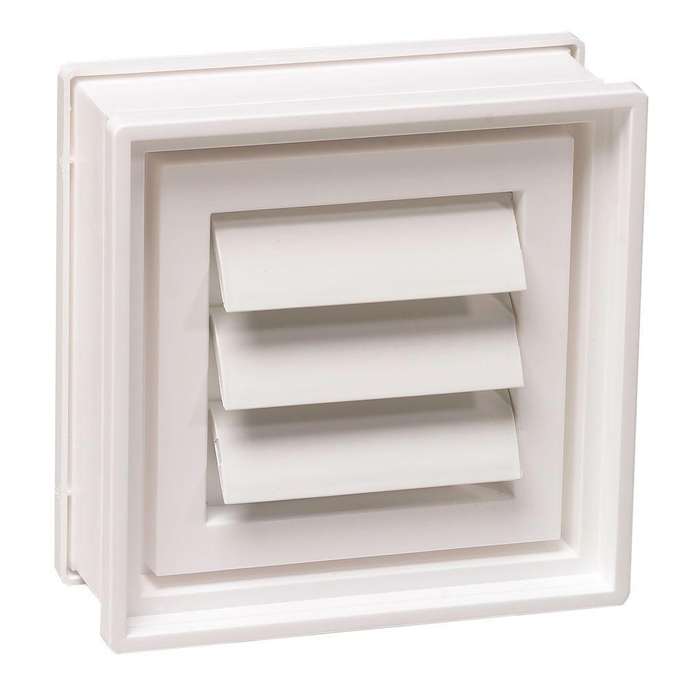 7-3/4 in. x 7-3/4 in. x 3-1/8 in. Dryer Vent for Glass Block Windows