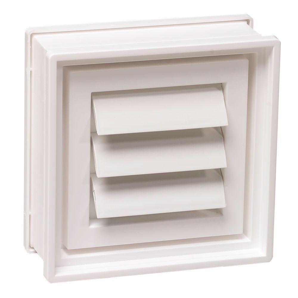 Clearly Secure 7-3/4 in. x 7-3/4 in. x 3-1/8 in. Dryer Vent for ...