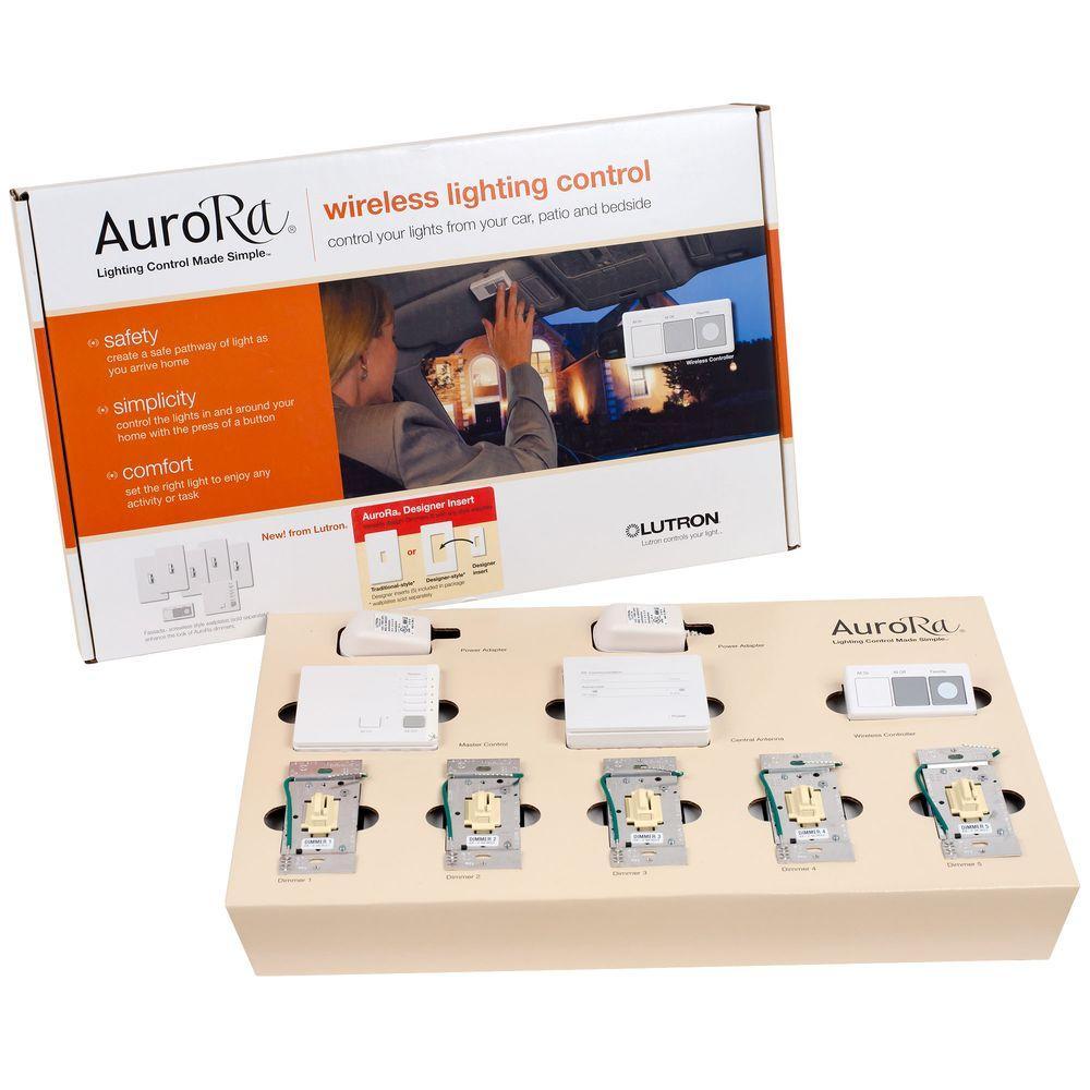 Lutron Aurora Wireless Lighting Control System - Almond-DISCONTINUED