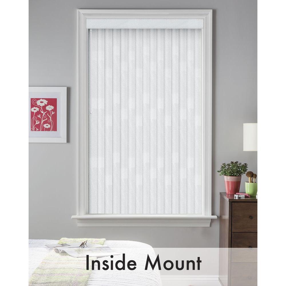 Bali Cut-to-Size White Silk Maui 3.5 in. PVC Louver Set - 83.5 in. L (9-Pack)