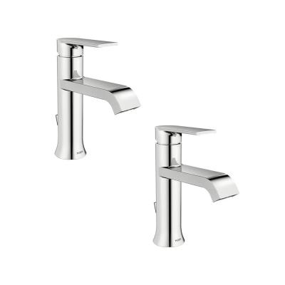 Genta Single Hole Single-Handle Bathroom Faucet in Chrome (2-Pack)