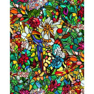 Tulia also Known As Spring Chapel Stained Glass self adhesive Film