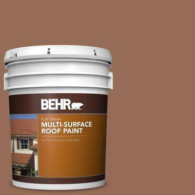 5 gal. #S200-6 Timeless Copper Flat Multi-Surface Exterior Roof Paint