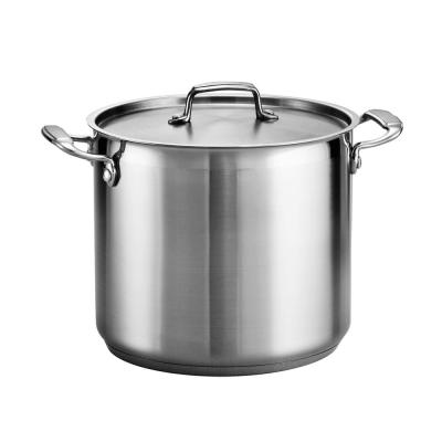 Gourmet 12 Qt. Stainless Steel Stock Pot with Lid