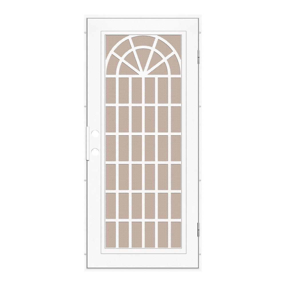 Unique Home Designs 36 in. x 80 in. Trellis White Right-Hand Surface ...