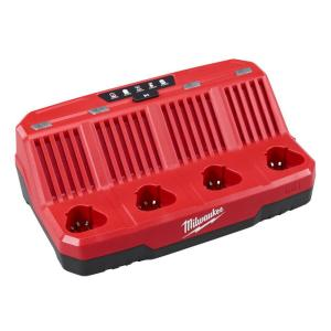 Milwaukee M12 12-Volt Lithium-Ion 4-Port Sequential Battery Charger by Milwaukee
