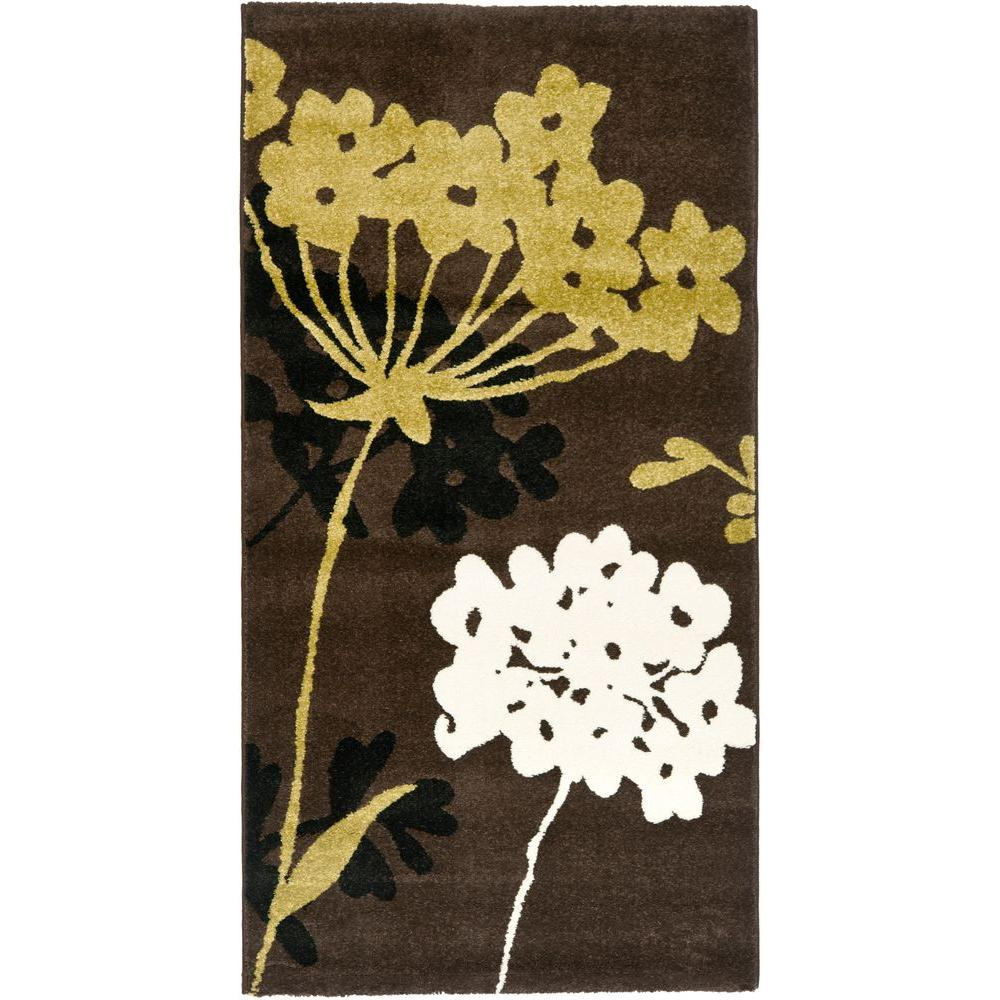 Porcello Brown/Green 2 ft. 7 in. x 5 ft. Area Rug