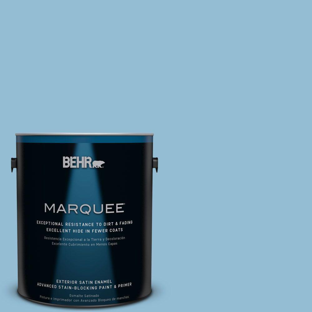 1-gal. #M500-3 Blue Chalk Satin Enamel Exterior Paint