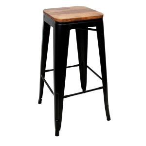 Magnificent Amerihome 30 In Black Bar Stool Set With Rosewood Top 4 Cjindustries Chair Design For Home Cjindustriesco