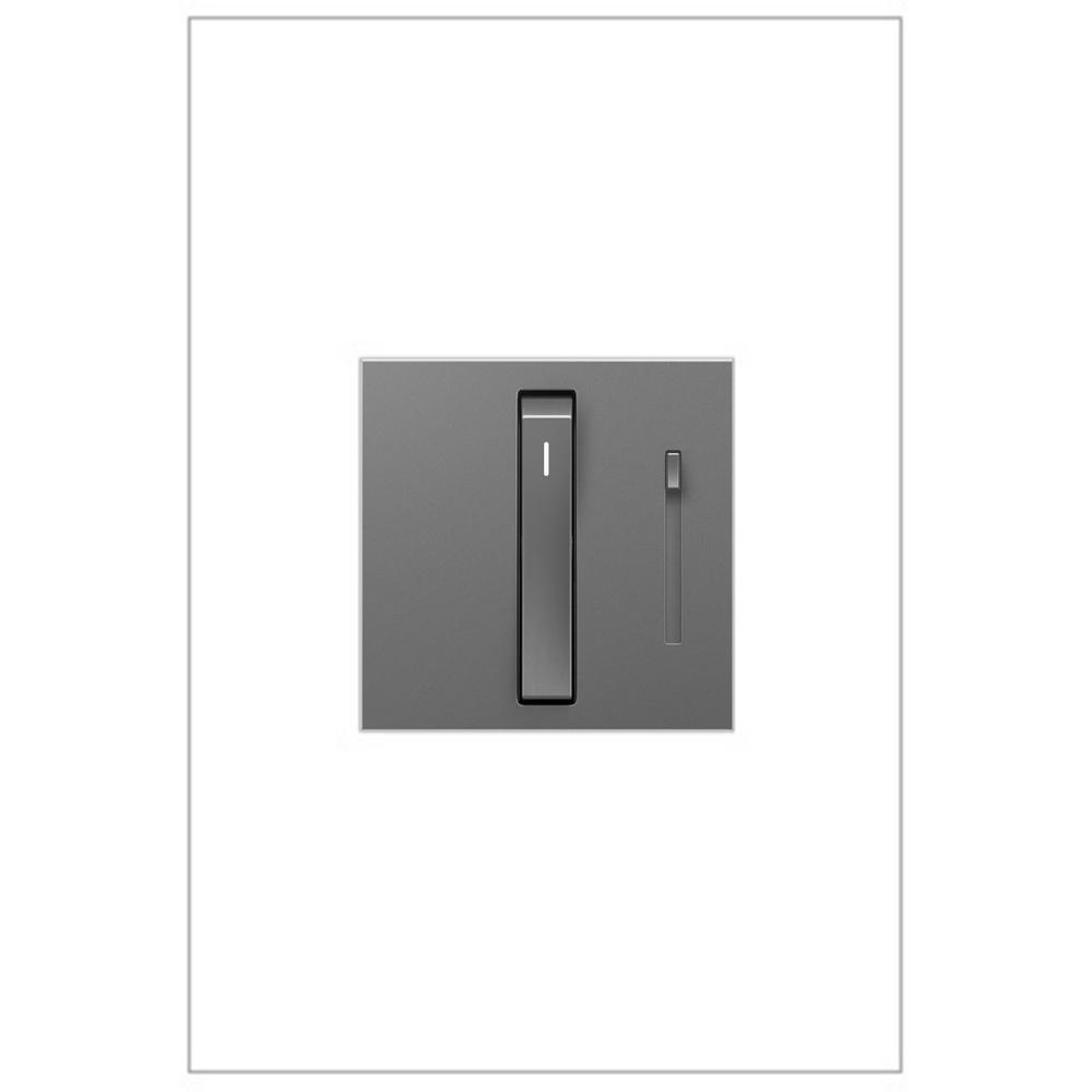 adorne Whisper 700-Watt Single-Pole/3-Way Incandescent/Halogen Dimmer, Magnesium