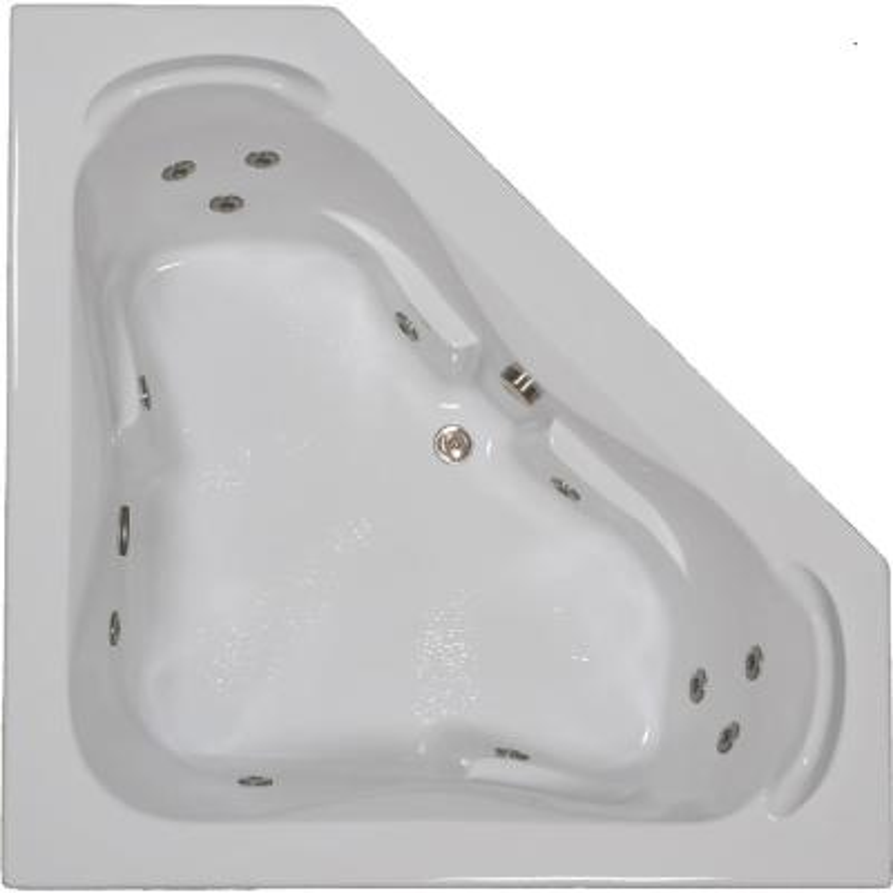 60 in. Acrylic Corner Drop-in Whirlpool Bathtub in White