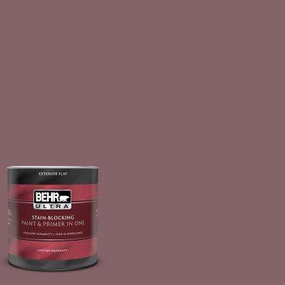 1 qt. #130F-6 Brazil Nut Flat Exterior Paint and Primer in One