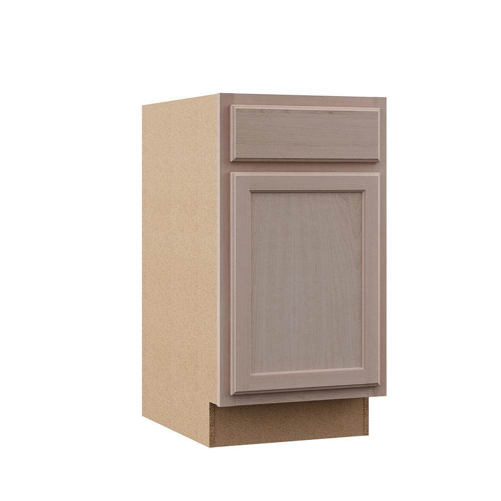 Hampton Bay Hampton Assembled 24x34.5x24 in. Base Kitchen Cabinet in  Unfinished Beech