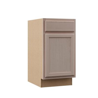 Hampton Assembled 18x34.5x24 in. Base Kitchen Cabinet in Unfinished Beech