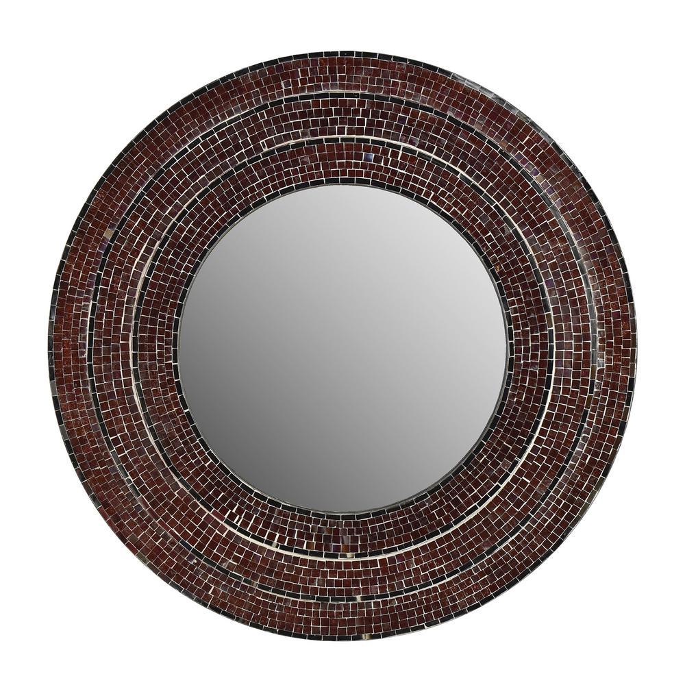 Sahlu Burgundy Mosaic Mirror