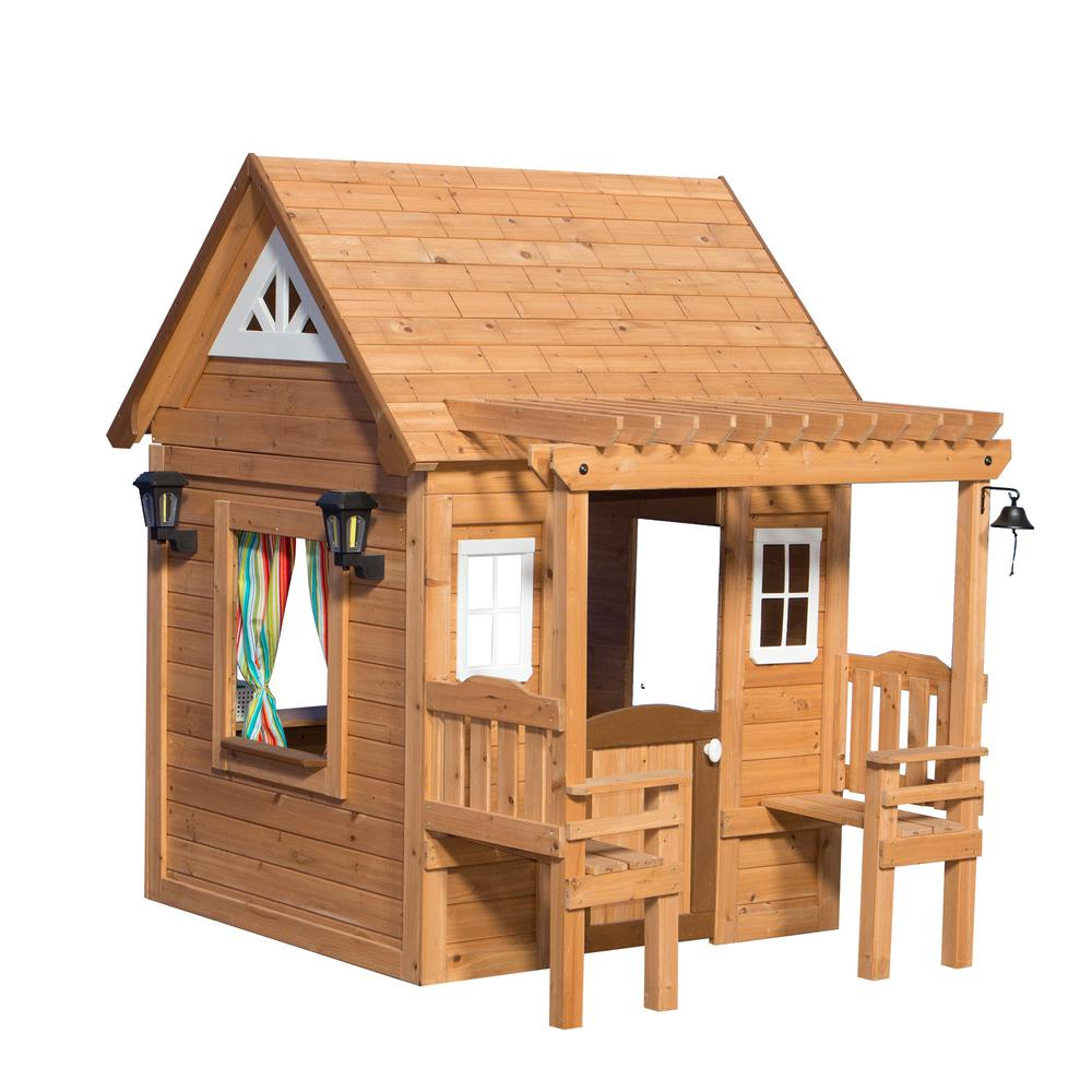 backyard discovery cascade cedar playhouse 1606319com the home depot