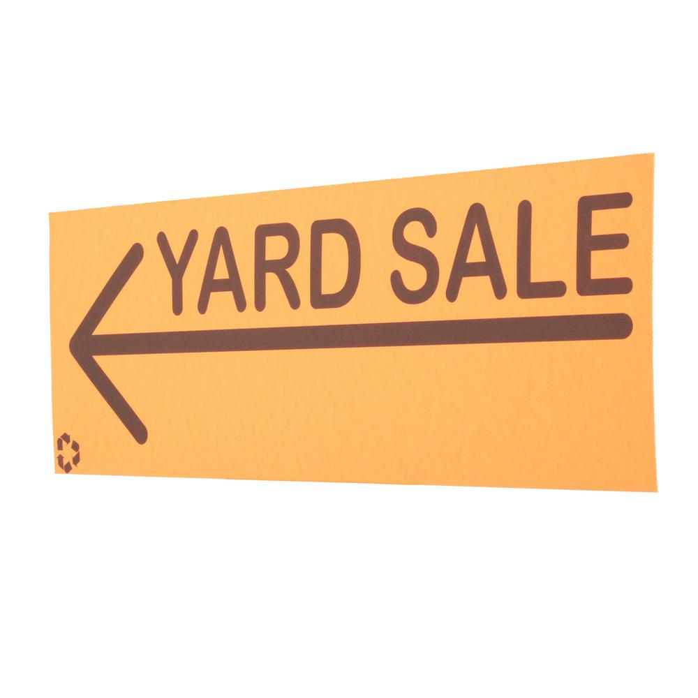 Everbilt 6 5 In X 20 In Yard Sale Sign Pack 31884 The Home Depot