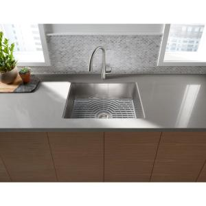 Sterling Ludington Undermount Stainless Steel 24 inch Single Bowl Kitchen Sink Kit by STERLING
