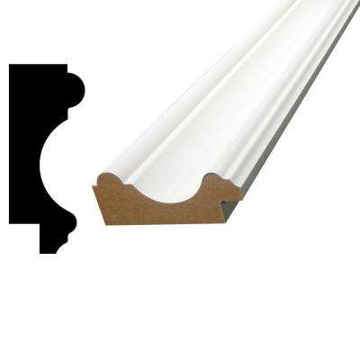 15/16 in. x 2-3/8 in. x 96 in. Primed MDF Chair Rail Moulding