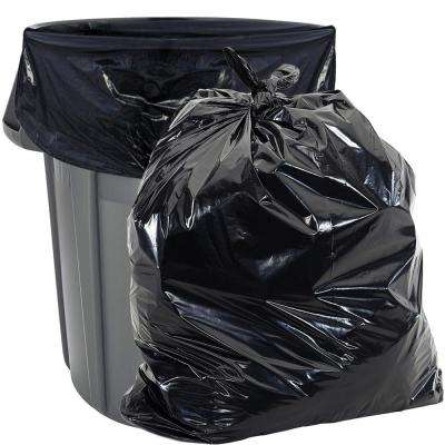 55 Gal. Heavy-Duty Black Trash Bags for Rubbermaid Brute Trash Cans (100-Count) 1.8 mil