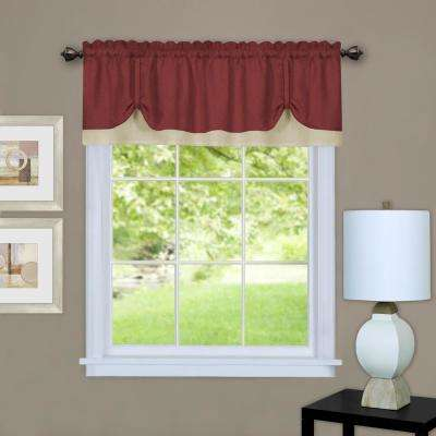 Darcy 14 in. L Polyester Valance in Marsala/Tan