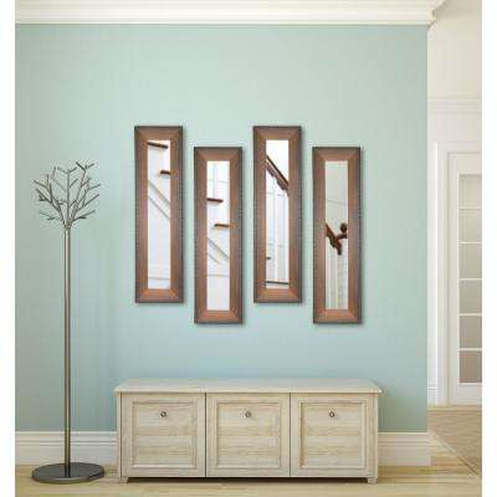 15.5 in. x 39.5 in. Timber Estate Vanity Mirror (Set of 4-Panels)