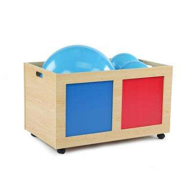 Primary Natural Rolling Toy Box