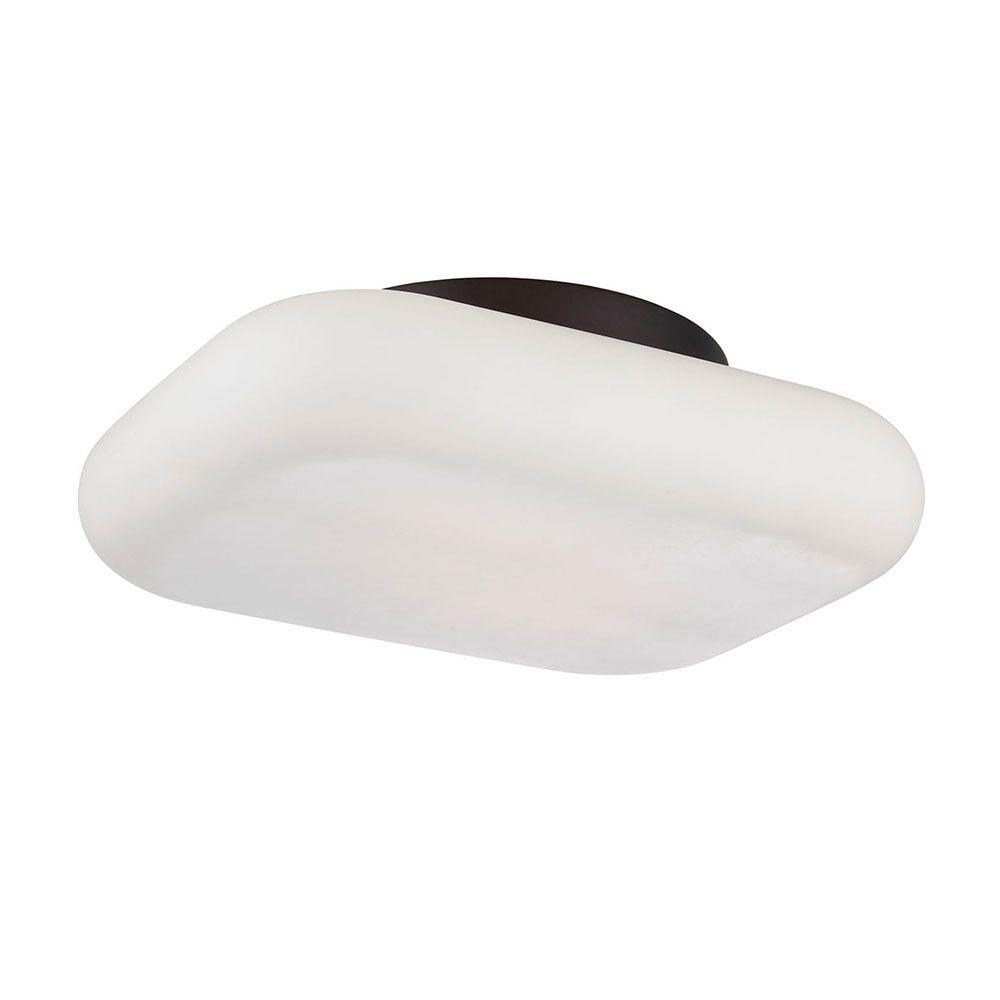 Alma Collection 2-Light Bronze LED Flushmount