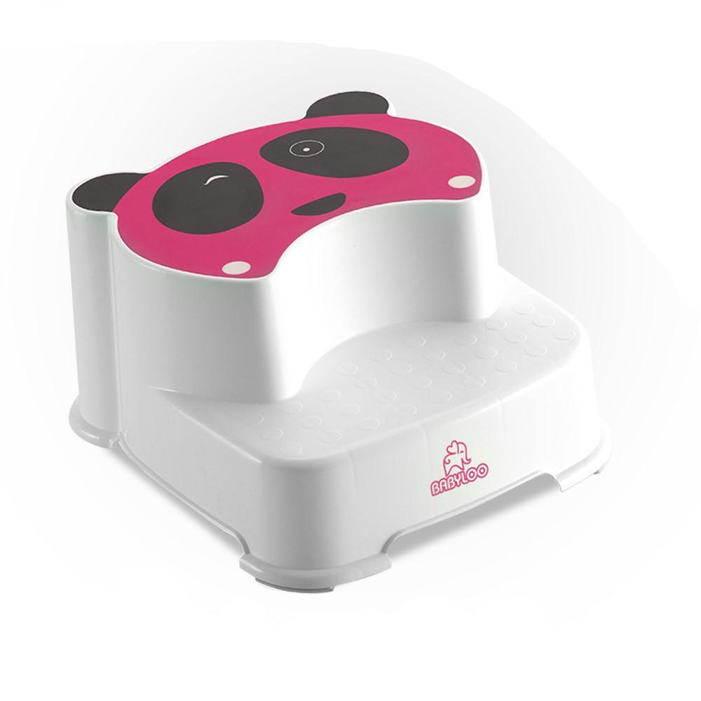 Kid Panda Step Stool in Pink