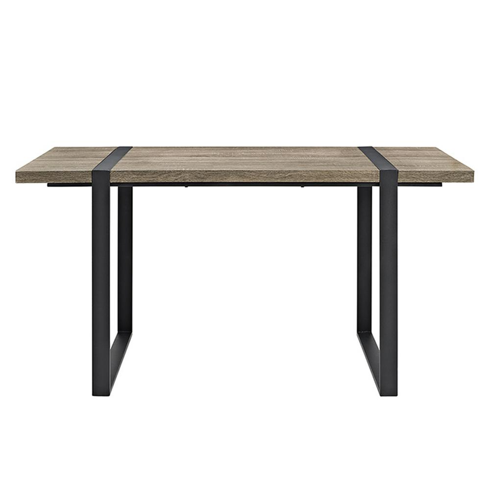 Walker Edison Furniture Company Urban Blend 60 In Driftwood Wood Dining Table