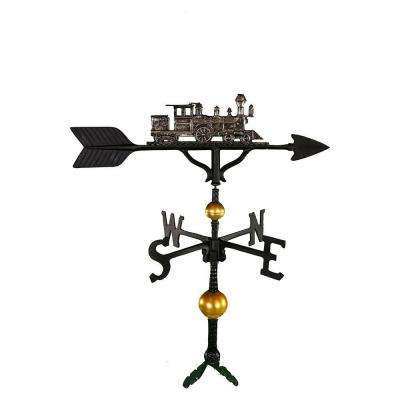 32 in. Deluxe Swedish Iron Train Weathervane
