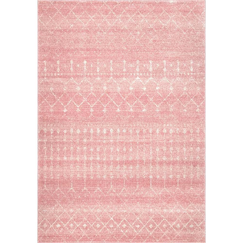 NuLOOM Moroccan Blythe Pink 8 Ft. X 10 Ft. Area Rug