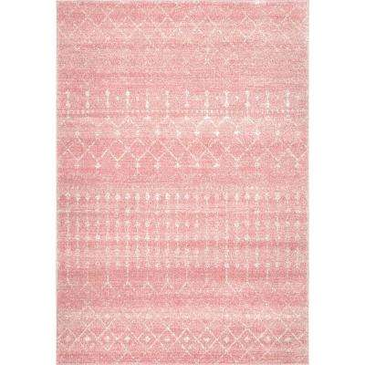 Chevron Light Pink Area Rugs The Home Depot