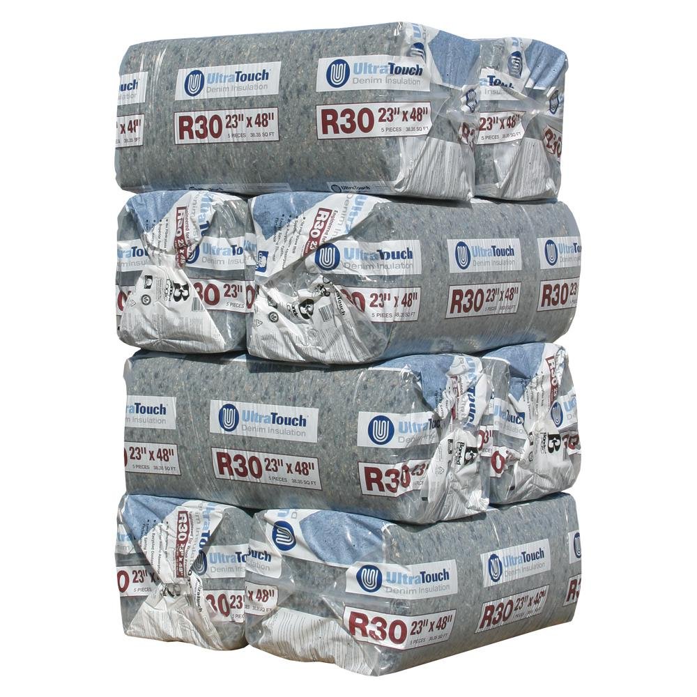 UltraTouch R-30 Denim Insulation Batts 23 in. x 48 in. (8-Bags)