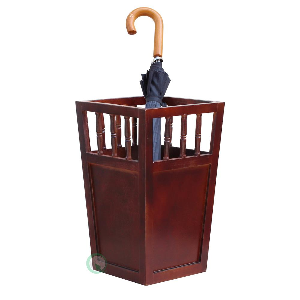 Vintiquewise Roman Brown Umbrella Stand-QI003080