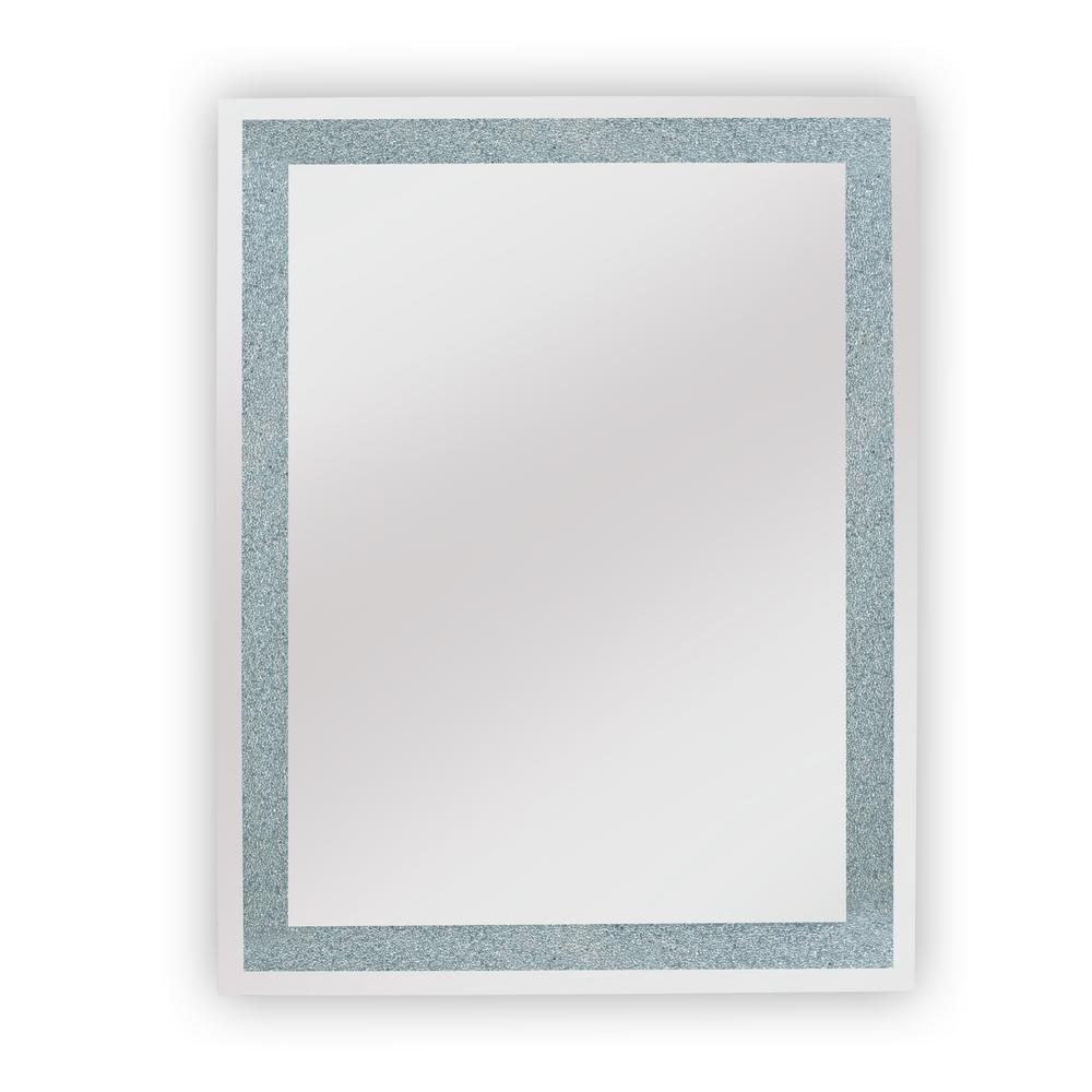 Edison Crystal 30 in. x 36 in. Wall Backlit LED mirror