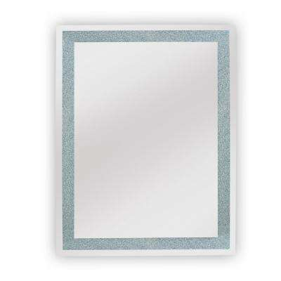 Edison Crystal 30 in. x 36 in. Wall Backlit LED mirror with Touch On/Off Dimmer and Anti-Fog Function