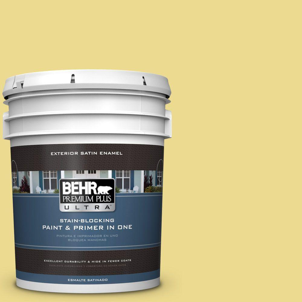 BEHR Premium Plus Ultra 5-gal. #P320-4 Pineapple Crush Satin Enamel Exterior Paint
