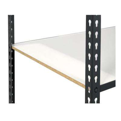 1 in. H x 36 in. W x 24 in. D Extra Shelf for Steel Boltless Shelving with Low Profile and Laminate Board Decking