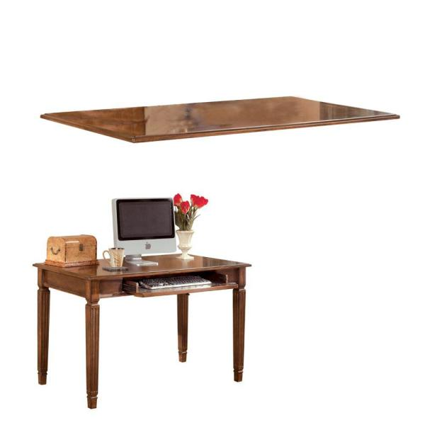 Brown Wooden Desk With Drop Down