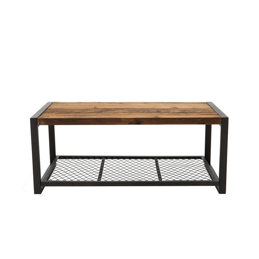 Home Decorators Collection Gentry Distressed Oak Coffee Table 9492300810 The Home Depot