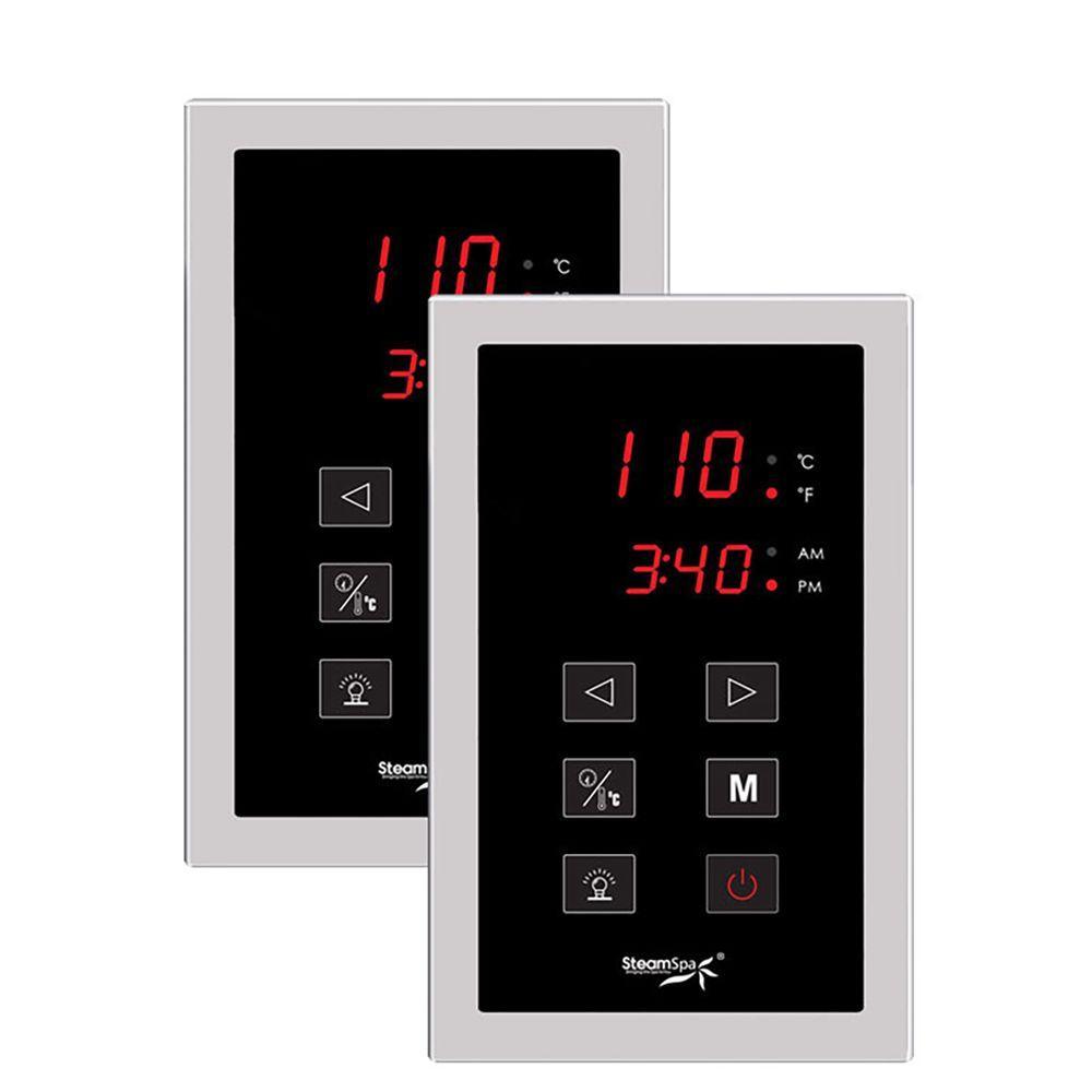 Steamspa Steam Bath Generator Dual Touch Screen Control Panel Dtpch