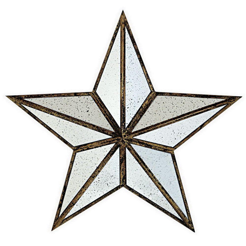 Ari 30 in. Antique Gold Metal Star
