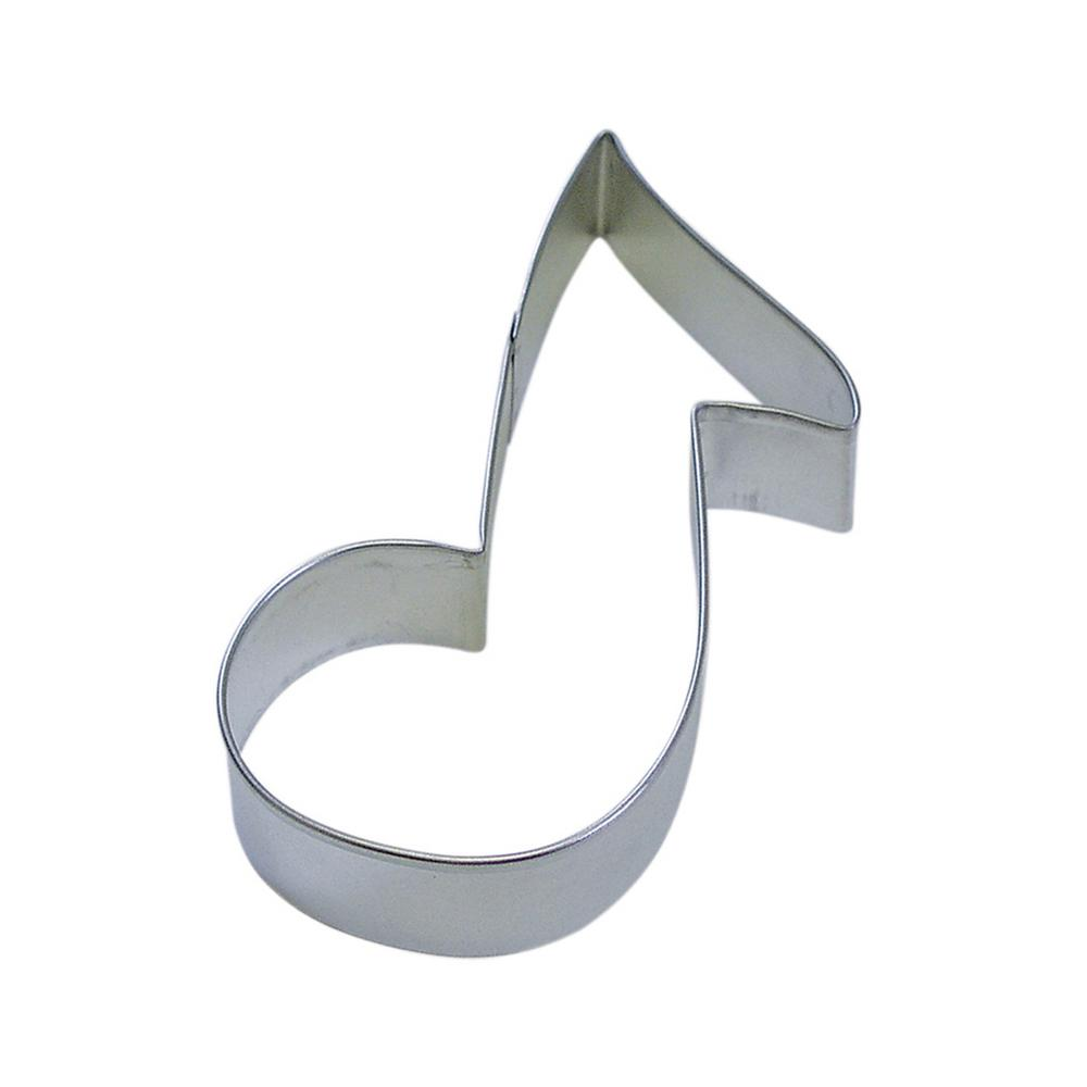 12-Piece 5.5 in. Music Note Tinplated Steel Cookie Cutter & Recipe
