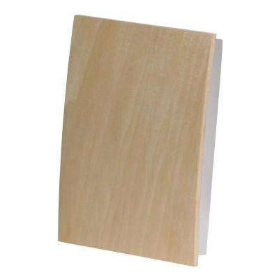 Decor Series Wireless Door Chime, Unfinished Wood, Paper, Paint, Stain, Push Button, Vertical or Horizontal Mnt