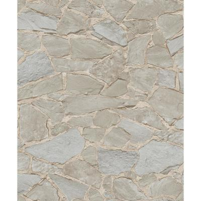 8 in. x 10 in. Stanley Brown Stone Wallpaper Sample